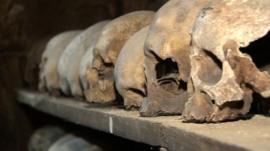 Skulls in the Rothwell ossuary
