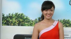 'Promotion girl' Nguyen Le Lan Huong
