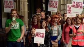 Shawn Hitchins and Ginger Pride walkers