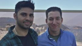 David Miranda (l) Glenn Greenwald (r)