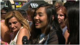 Fans of One Direction in Leicester Square