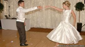 Nathan Stephens dances with new wife Charlene at their wedding