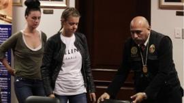 Michaella McCollum (left) and Melissa Reid arrive at court