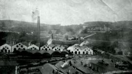 Historic photo of Merthyr Tydfil iron works