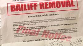 Bailiff notice