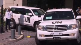 Convoy of UN vehicles