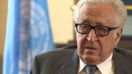 UN-Arab League Envoy to Syria Lakhdar Brahimi