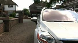 A car on a driveway