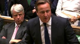 Prime Minster David Cameron (right)