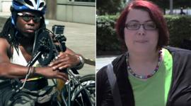 Composite image (L) Former Paralympian Ade Adepitan and (R) disability campaigner Christiane Link
