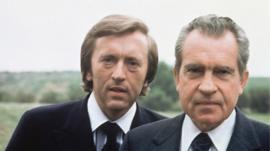 David Frost and Richard Nixon
