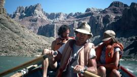 Kenton Grua in a boat in Grand Canyon