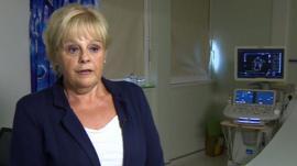 Heart attack victim Carol Gedda