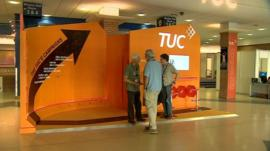 A stand at the TUC congress