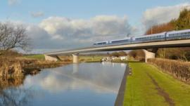 HS2 Birmingham and Fazeley viaduct
