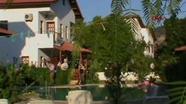 The villa where the shooting took place