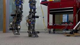 A robot walking