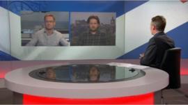 Willie Sullivan, Alex Massie and BBC Scotland's Bill Whiteford