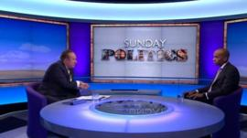 Andrew Neil and Chuka Umunna