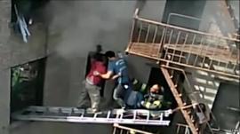 Dramatic fire rescue