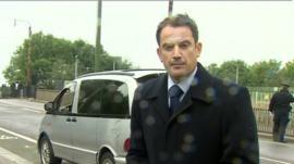 Matt Prodger at the scene of Mark Duggan's death in Tottenham