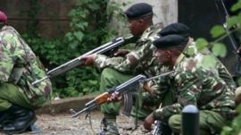 Armed Kenyan police