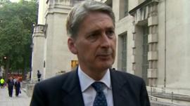 Defence Secretary, Philip Hammond.