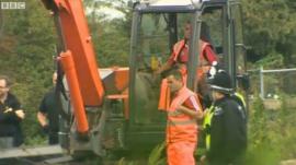 Police digging at scene