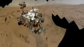 Rover at Rocknest