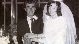 David and Brenda Caunter on their wedding day