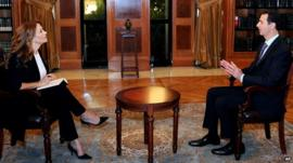 Syrian President Bashar al-Assad in an interview with Italy's Rai News 24