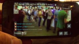 Phone with live video streaming