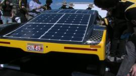 Solar powered sports car