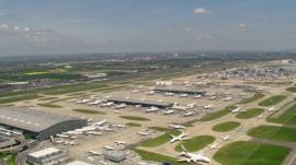 Heathrow airport aerial