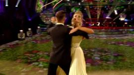 Rachel Riley dancing with Pasha Kovalev
