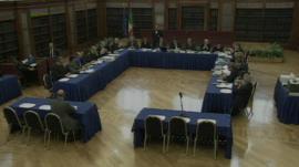 Italian senate committee hearing
