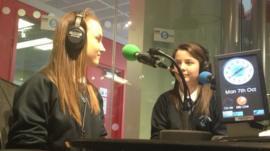 Holly and Lauren in radio studio