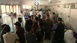 Hospital scene after attack