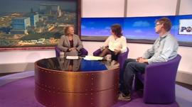 Jenny Jones, Jo Coburn and Mark Lynas