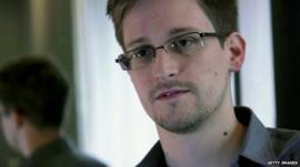 American intelligence analyst Edward Snowden
