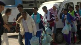 Child migrants on Lampedusa