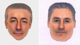 New e-fits of a man released by the Metropolitan Police