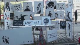 Banksy's New York stall