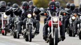 Rebels motorcycle club members