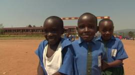 Schoolchildren in Rwanda