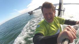 Speed sailing champion Zara Davis teaches Mike Bushell