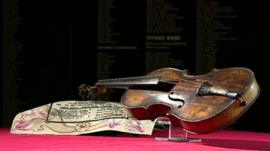 Violin believed to have been played on the Titanic