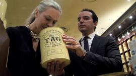 Maranda Barnes (left) and Taha Bouqdib of TWG Tea Company