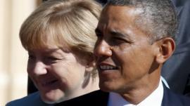 Angela Merkel and Barack Obama - file image