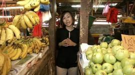 Jennifer Pak in Kuala Lumpur market